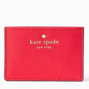 Brand new Red Kate Spade Cedar Street Card Holder